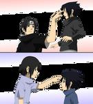 Itachi and Sasuke - lineart Colored