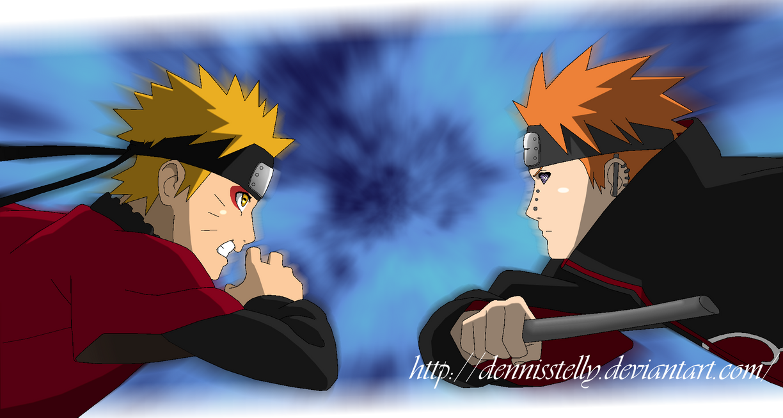 Kampftheorie: Dein Lieblingskampf aus dem Anime Naruto_vs_pain___opening_07___lineart_colored_by_dennisstelly-d5xlc48