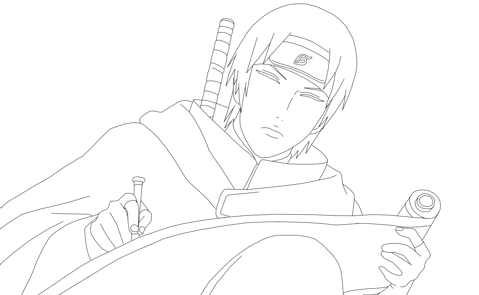 Sai Lineart : Sai or naruto lineart by dennisstelly on deviantart