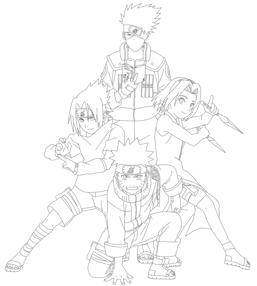 Team 7 Naruto Shippuden Coloring Pages Coloring Pages