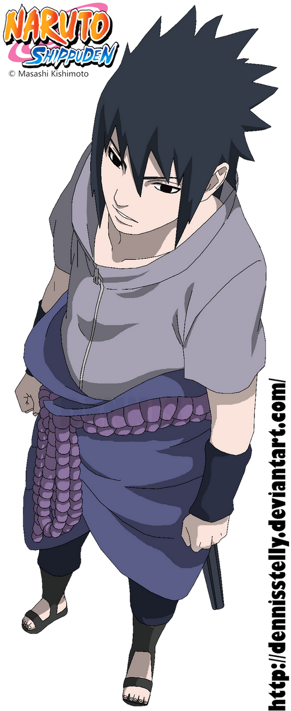 Sasuke Uchiha 627 - Lineart colored by DennisStelly