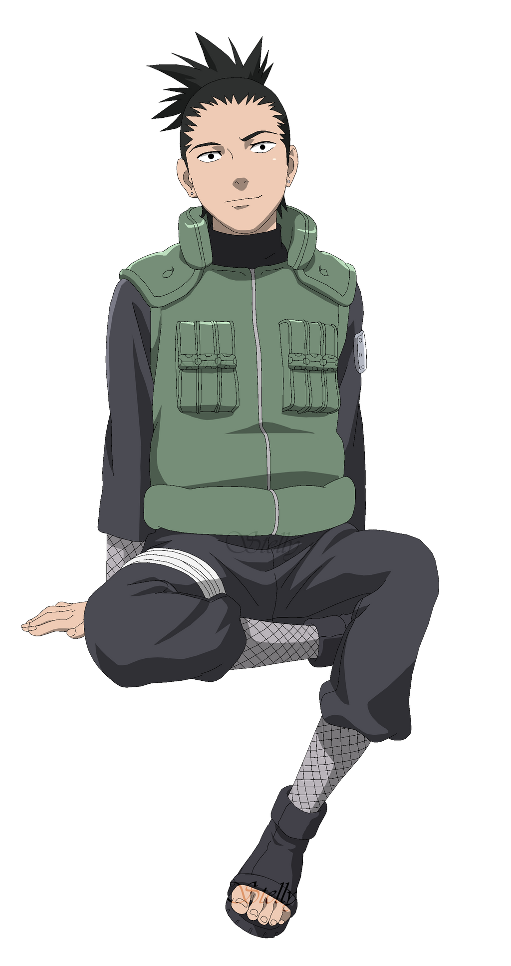 Shikamaru Nara - Lineart Colored by DennisStelly on DeviantArt