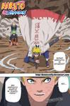 Naruto 630 - Last page - Minato's arrive!!