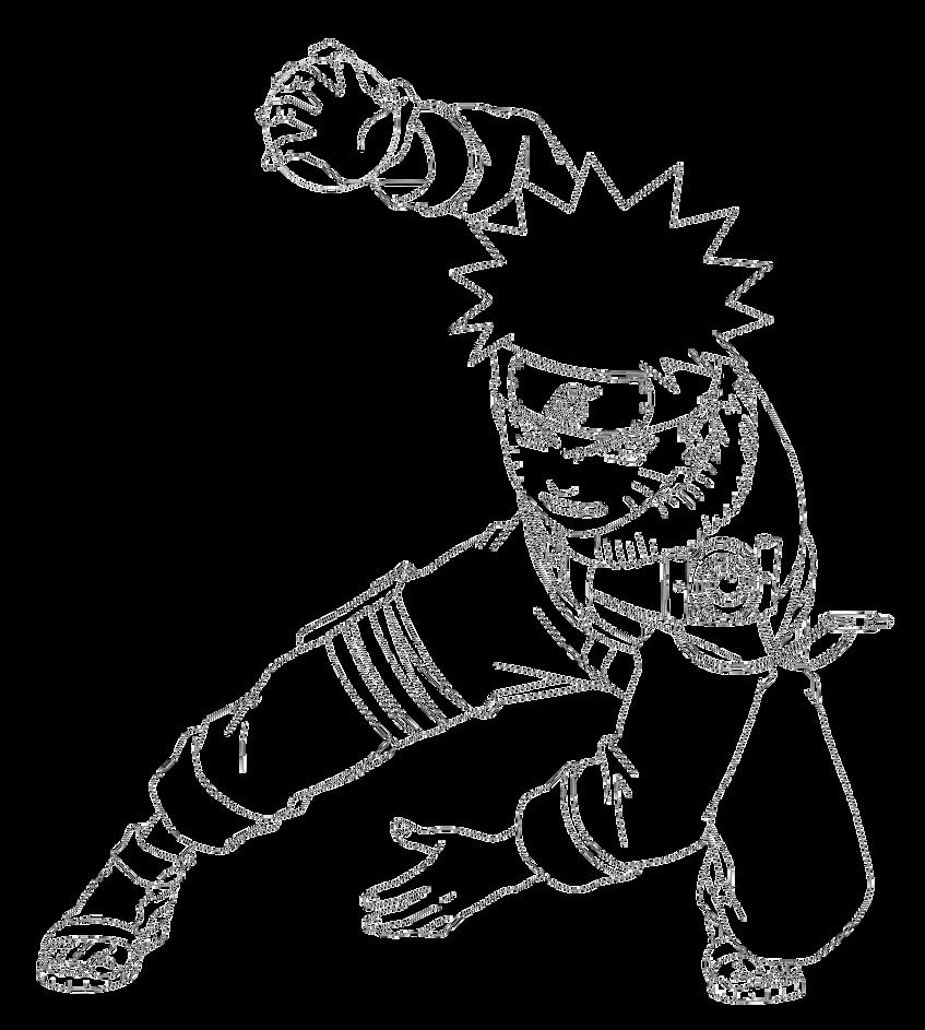 Teen Naruto Rasengan Lineart
