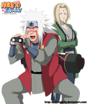 Jiraiya and Tsunade Funny - Lineart colored