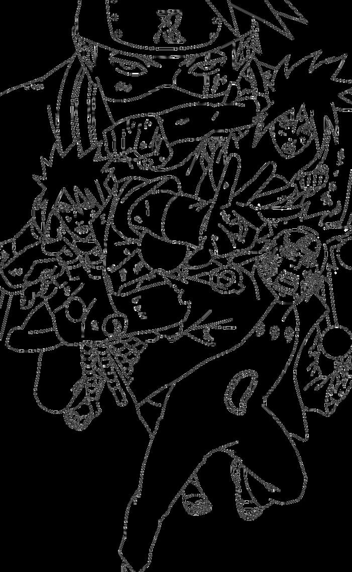 Naruto Shippuden Lineart : Lineart naruto shippuden team last battle by