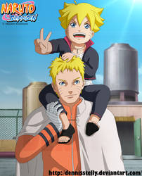 Naruto and Bolt - Father and son