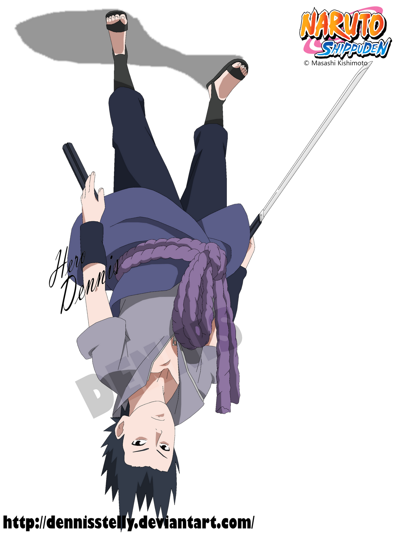 Sasuke Uchiha On The Roof By Dennisstelly On Deviantart