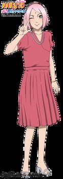 Sakura in Naruto's marriage by DennisStelly