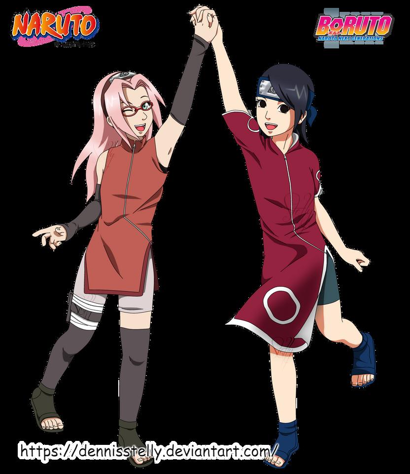 Sakura Haruno And Sarada Uchiha By DennisStelly On DeviantArt