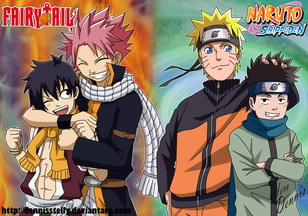 Natsu and Romeo VS Naruto and Konohamaru by DennisStelly ...