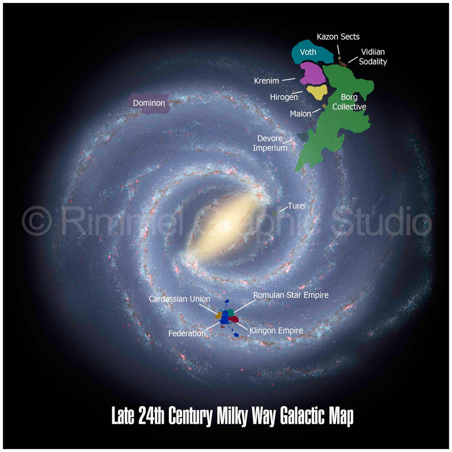 24th Century Galactic Map by keiku on DeviantArt