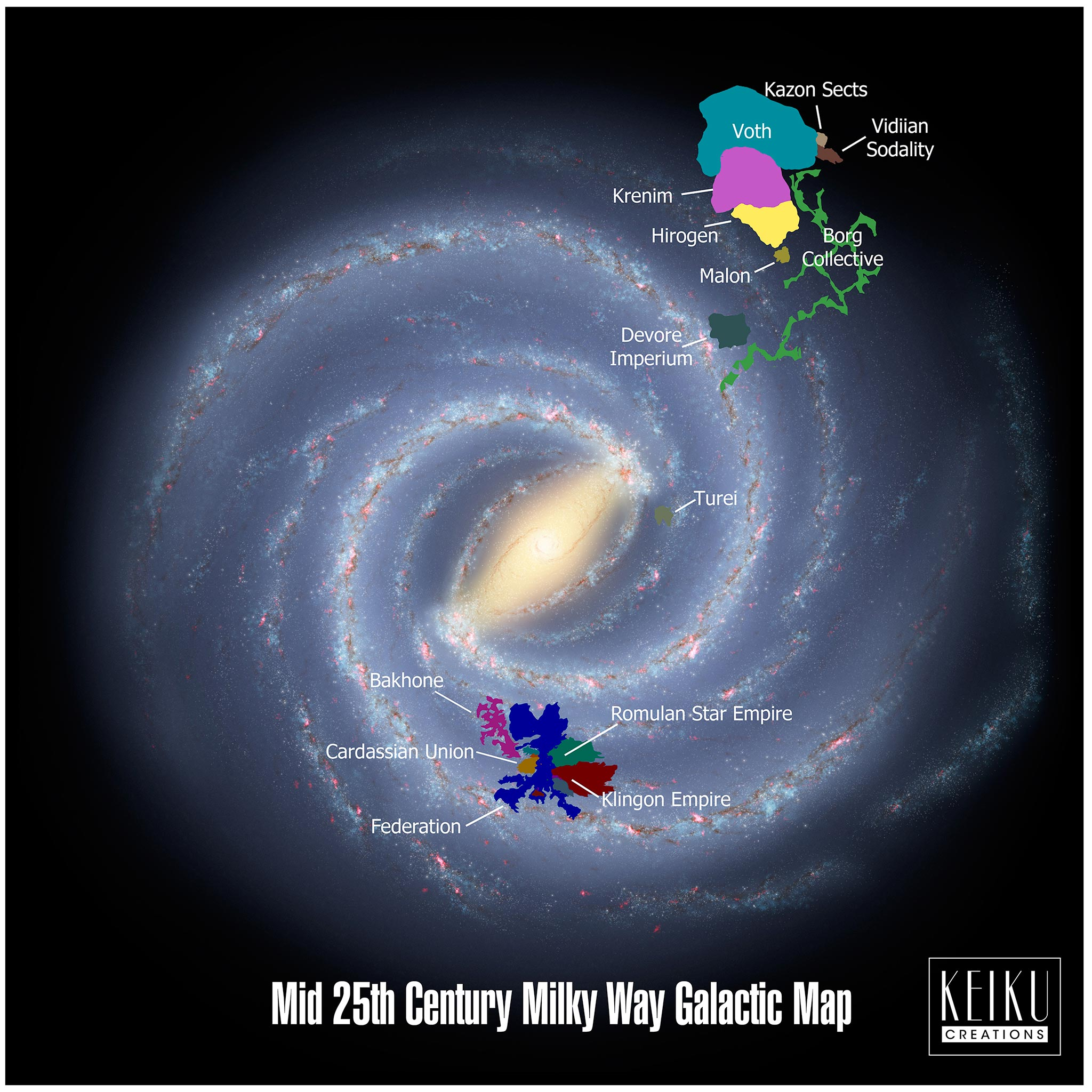 25th Century Galactic Map