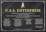 Enterprise H Dedication Plaque