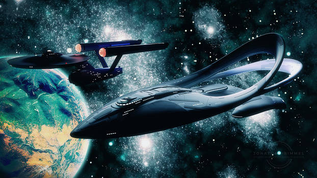 The Orville Meets the Enterprise by keiku