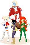 DC Girls (equestria girl version ) OPEN COMMISSION by J053PH-D4N13L
