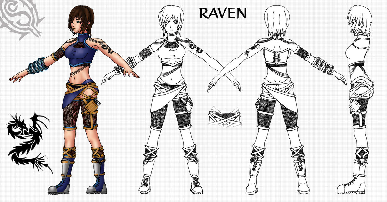 Raven Model Sheet By Shadowcat1001