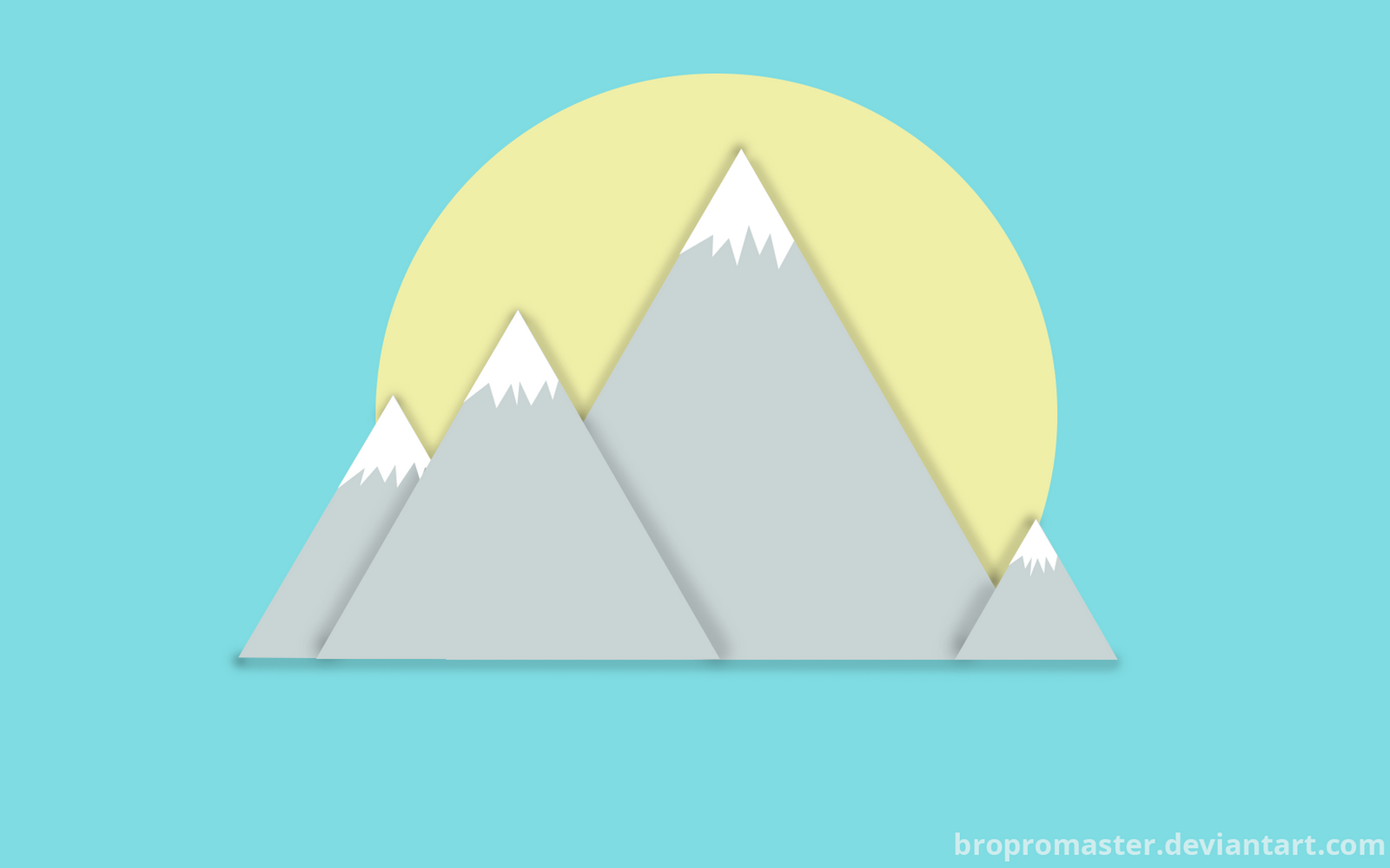 Must see Wallpaper Mountain Simple - simple_mountain_and_sun_wallpaper_by_bropromaster-d8rfzeq  Trends_526183.png