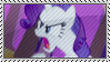 Angry Rarity Stamp by SunnStamp