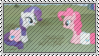 Rarity And Pinkie Pie Stamp by SunnStamp