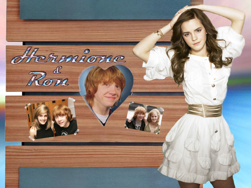 harry potter wallpaper hermione. Ron Hermione Wallpaper 7 by