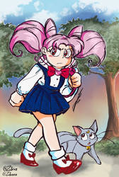 Chibiusa and Diana (Sailor Moon) by Zobeez