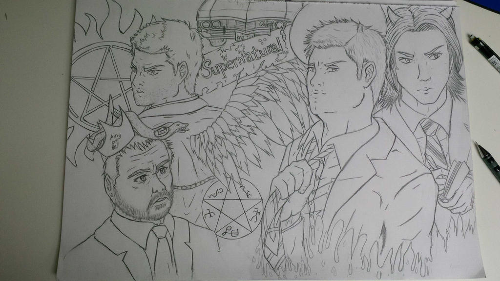 Supernatural - Mangastyle (WIP) by arschra