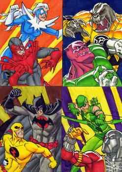 DC Epic Battles sketch cards 1