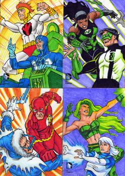 DC Epic Battles sketch cards 2