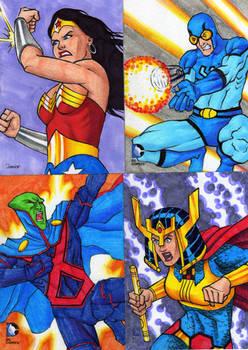 DC Epic Battles sketch cards 3