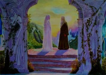 Gandalf 'n' lady Galadriel