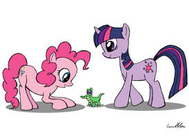 Pinkie and Twilight by ComicGuy89