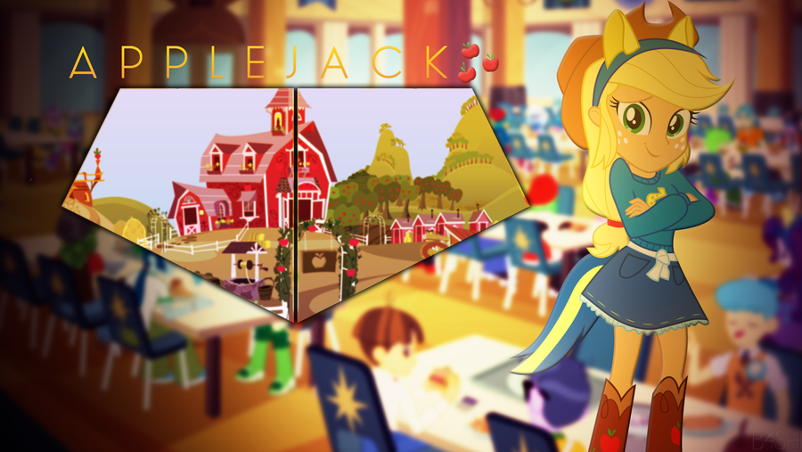 Applejack Equestria Girls - Wallpaper [3840x2160] by R4inbowbash
