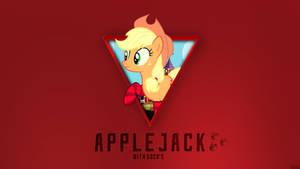 Applejack with Socks - Wallpaper [1920x1080] by Nakan0i