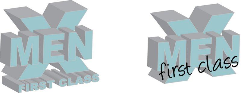 logo film x men first class by renanjokel