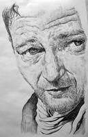 John Wayne pen sketch