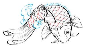 Koi Fish tattoo design by CubistPanther
