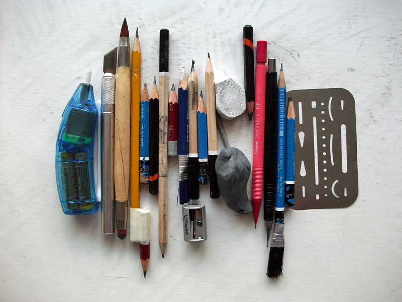 The contents of my pencil case by CubistPanther