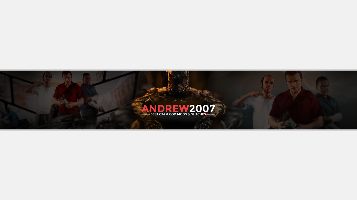 youtube banner with text by xandrew2007x on deviantart. Black Bedroom Furniture Sets. Home Design Ideas
