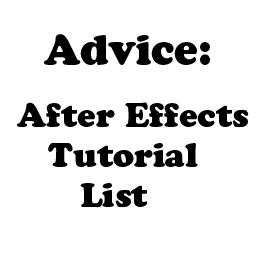 Advice: AfterEffects Tutorials by Crevist