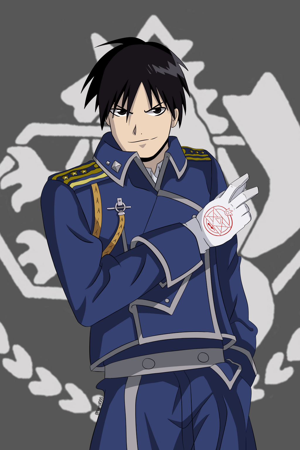 roy mustang (fullmetal alchemist brotherhood)karolg66 on