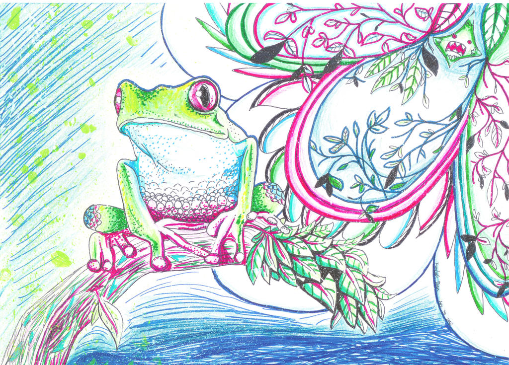 Abstract Froggeh by OshieK