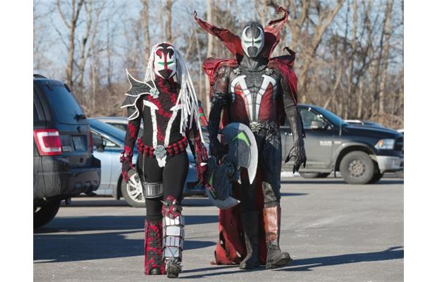 Two Spawn at Ottawa pop expo 2013 by Le-monde-de-Roxie on