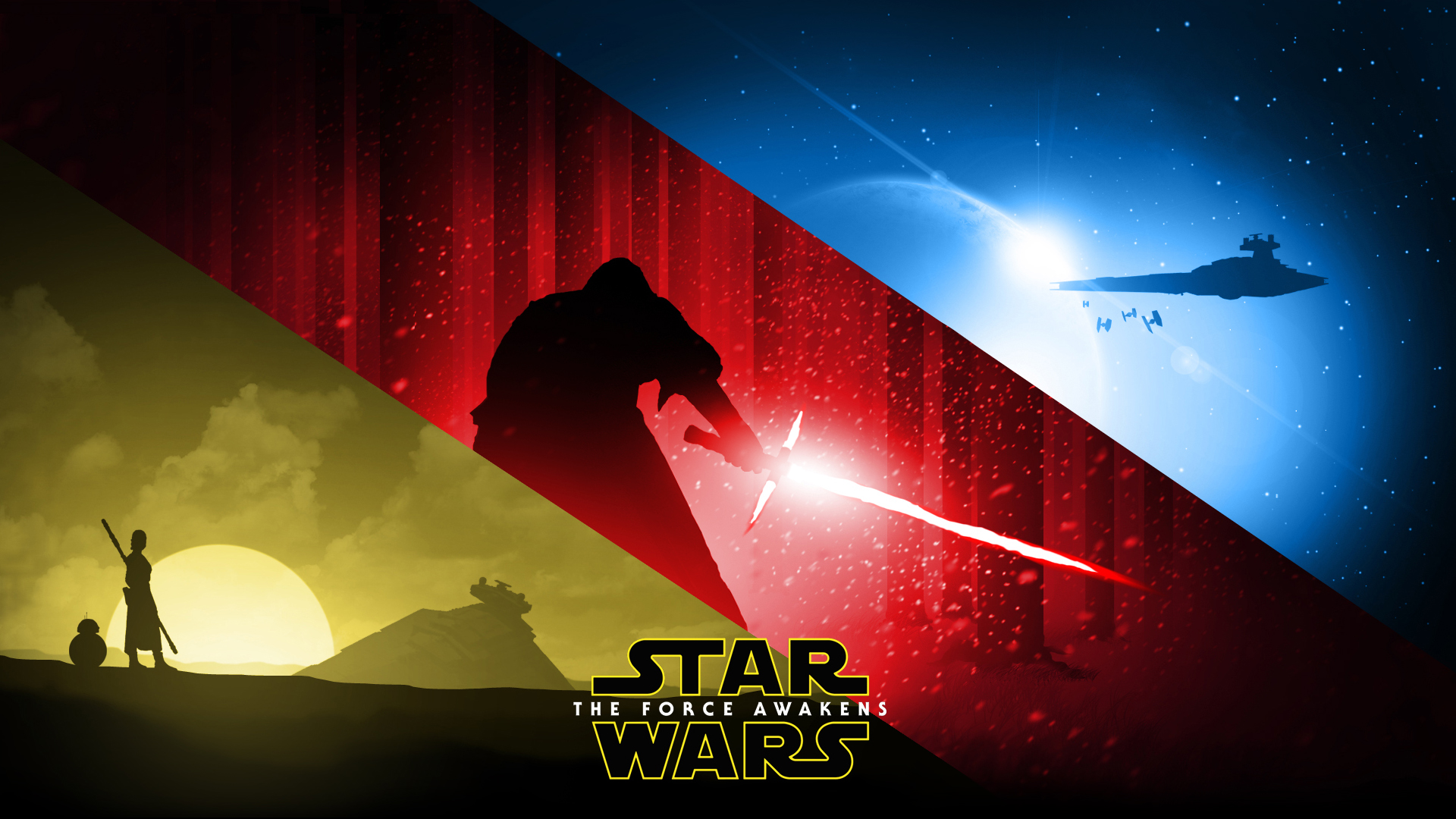 star wars the force awakens wallpaper by rocklou on
