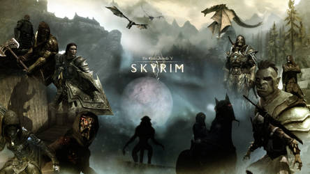 Skyrim Wallpaper by RockLou