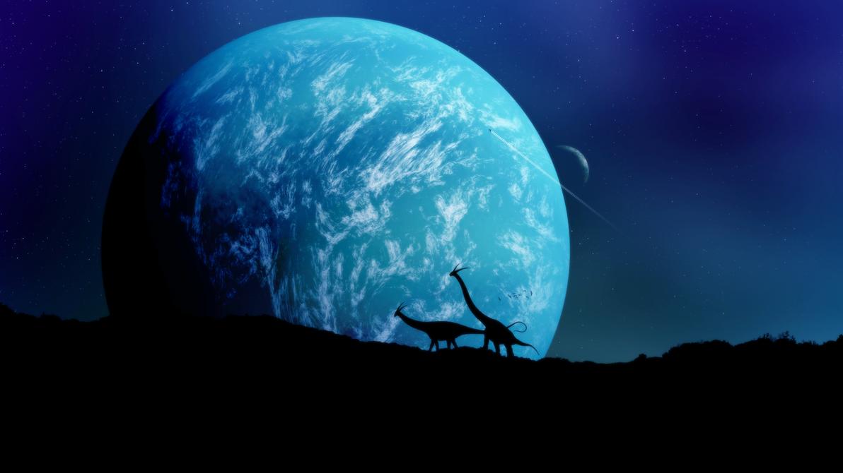 No Man's Sky Wallpaper - Moons by RockLou