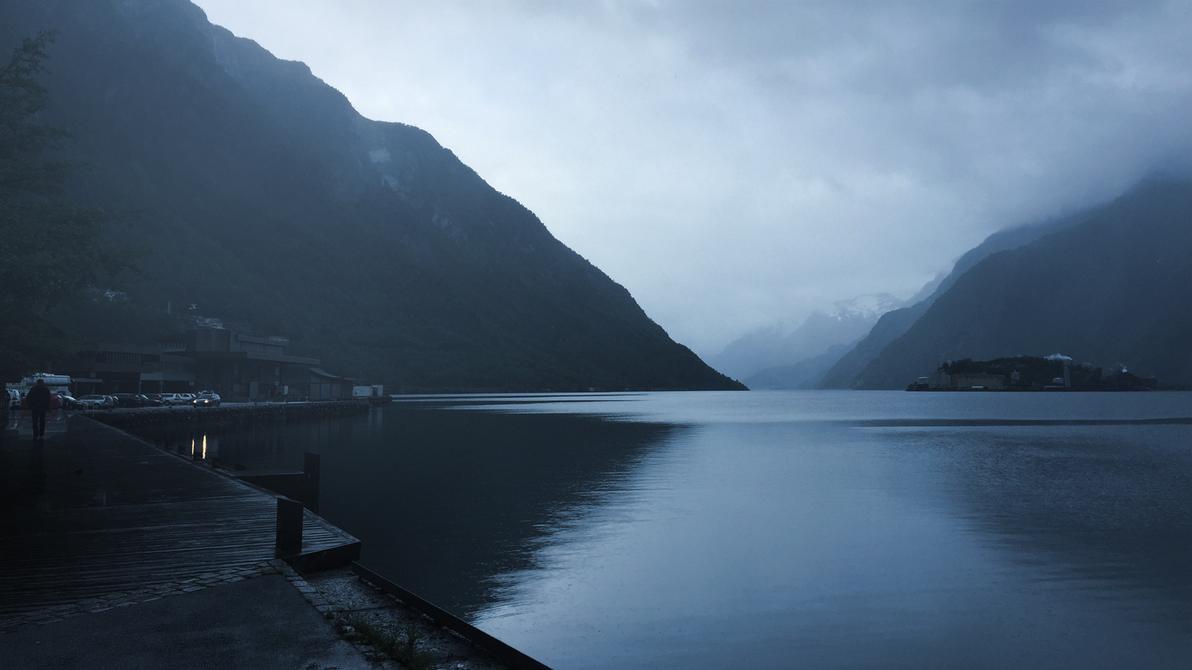 Odda and Sorfjorden, Norway by RockLou