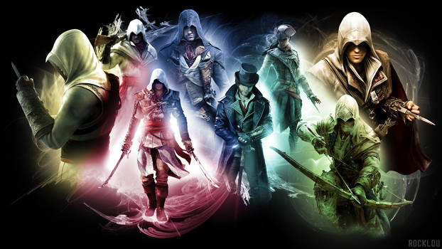 Assassin's Creed collage Wallpaper