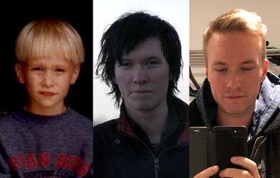 My three hairstyles throughout my life