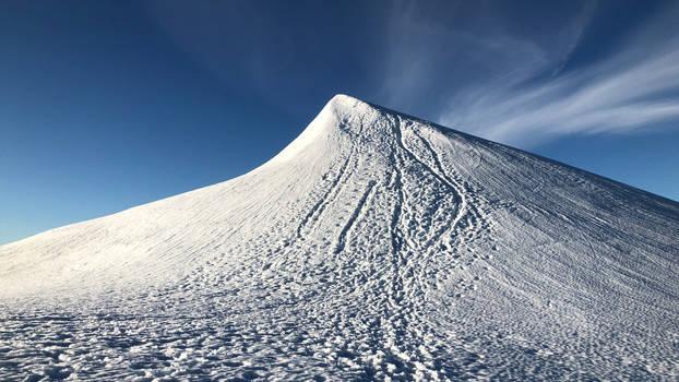 The peak of Kebnekaise mountain